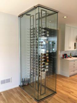 custom glass wine holder
