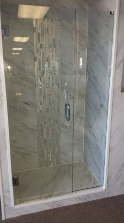 New shower display at our office
