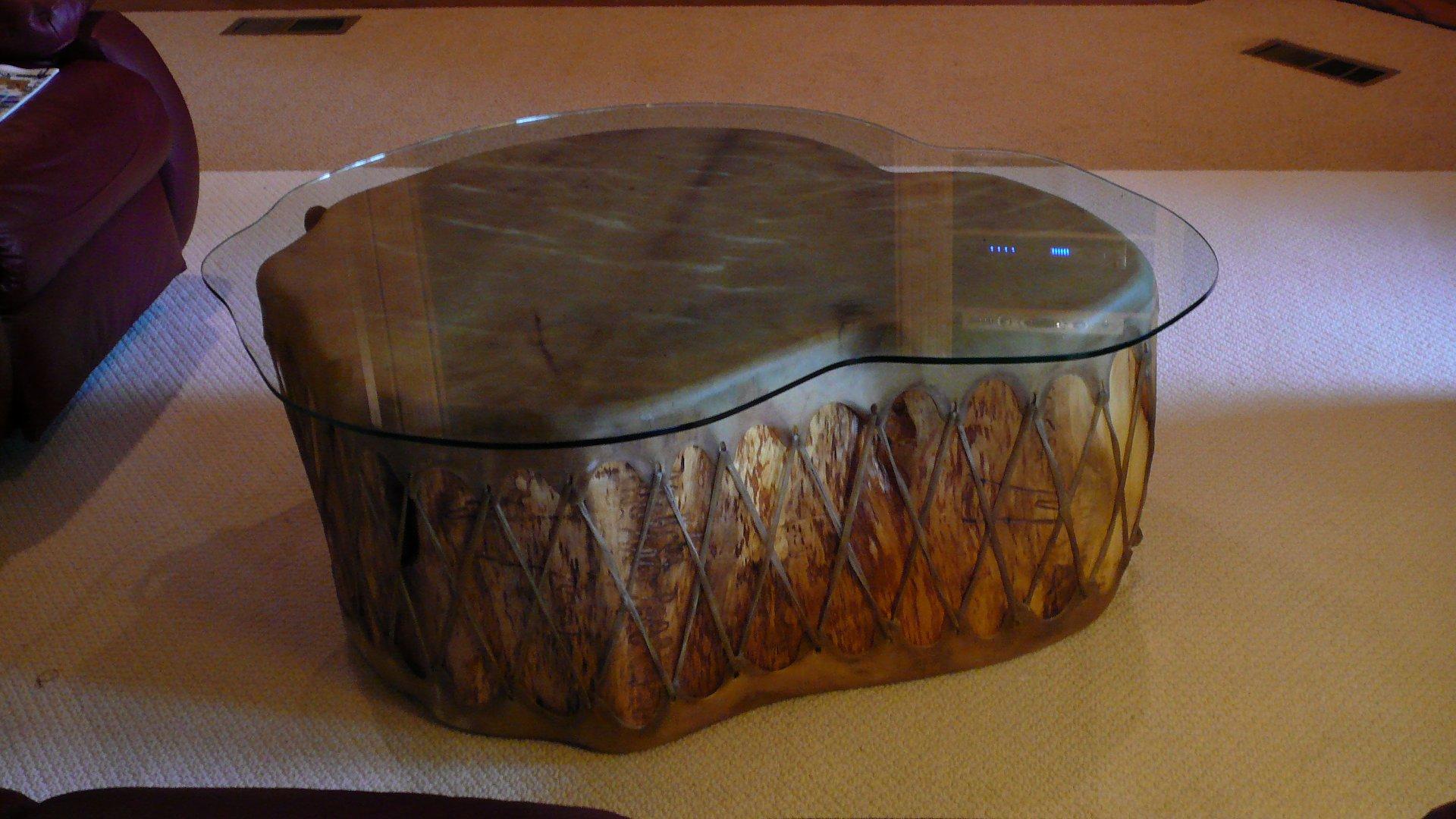 Custom Glass Top Table