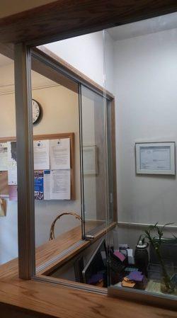 dr office glass window