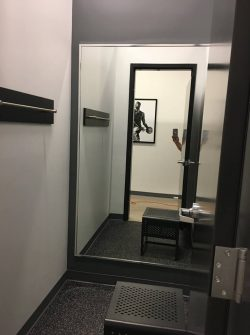 fitting room mirror