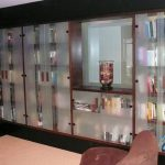 residential custom book case glass